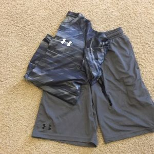 Under Armour athletic shorts and shirt